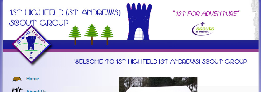 Image of 1st Highfield Scouts website