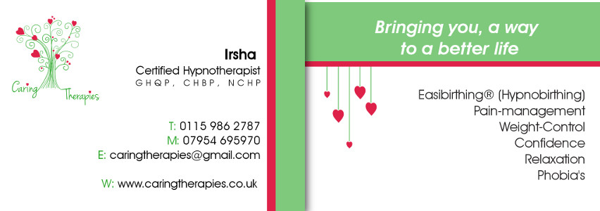 Caring Therapies business cards